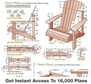 woodworking chair furniture plans