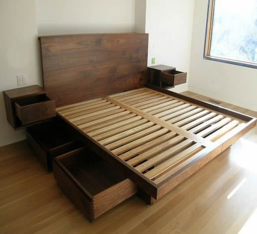 bed frame woodworking plans project